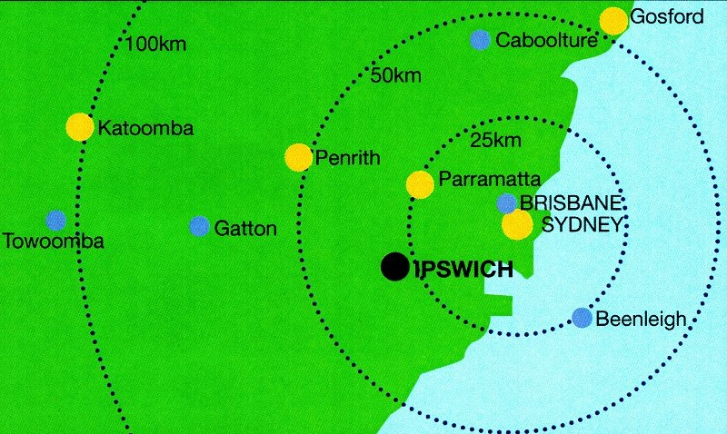 Comparing Sydney's Parramatta to Brisbane's Ipswich